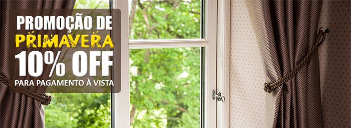 Promoção de cortina na primavera